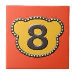 Número principal 8 del oso tejas  cerámicas