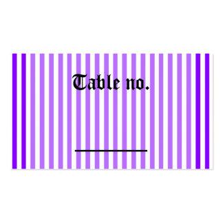 Número púrpura gótico de la tabla de la recepción  tarjetas de visita