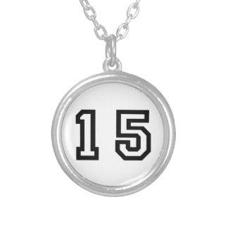 Número quince colgante redondo