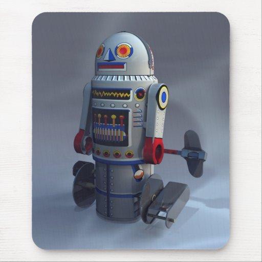 Número retro 7 Mousepad del robot del juguete Alfombrillas De Ratones