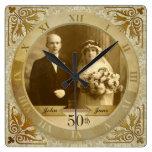Número romano de la foto del reloj del damasco ada