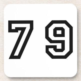 Número setenta y nueve posavaso