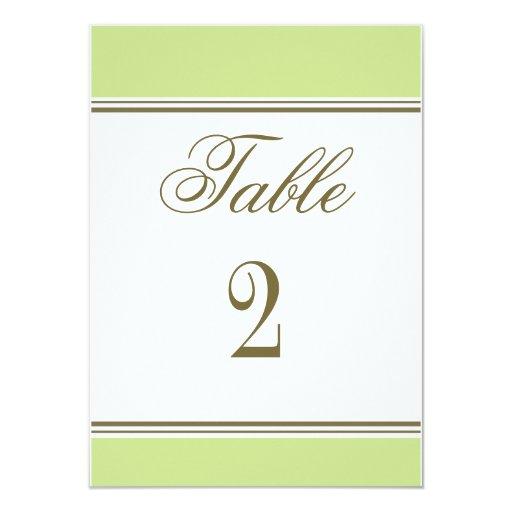 Número simple de la tabla de la recepción del invitación 11,4 x 15,8 cm