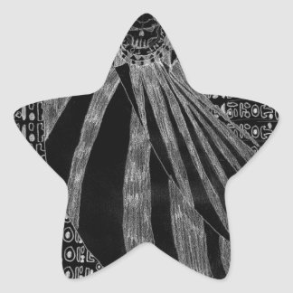 Número sin título uno - variante inversa pegatina en forma de estrella