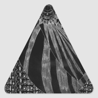 Número sin título uno - variante inversa pegatina triangular