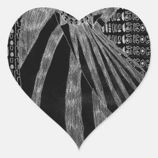 Número sin título uno - variante inversa pegatina en forma de corazón
