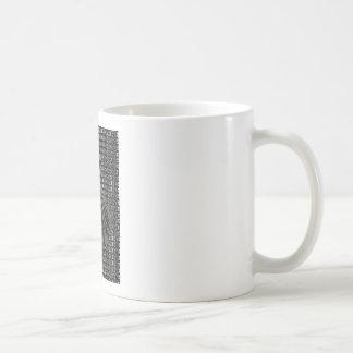 Número sin título uno - variante inversa taza básica blanca