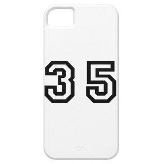 Número treinta y cinco iPhone 5 carcasas