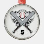 Número uniforme 5 del jugador de béisbol ornamento para reyes magos