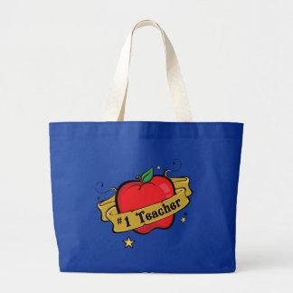 Número uno Apple del profesor y bolso del tatuaje  Bolsa Tela Grande
