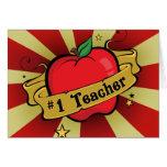Número uno Apple del profesor y tarjeta del tatuaj
