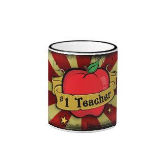 Número uno Apple del profesor y taza del tatuaje d
