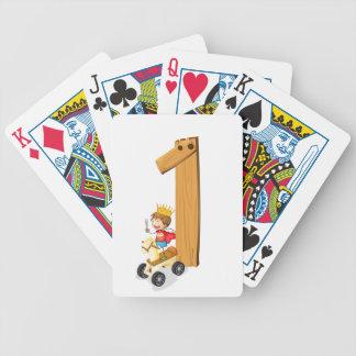 Número uno baraja cartas de poker