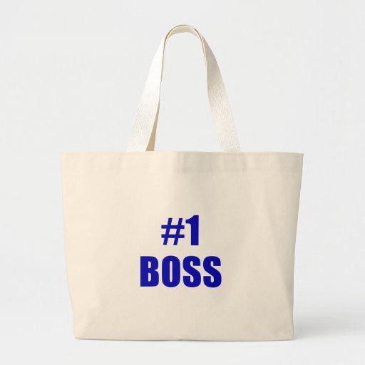 Número uno Boss Bolsa Tela Grande