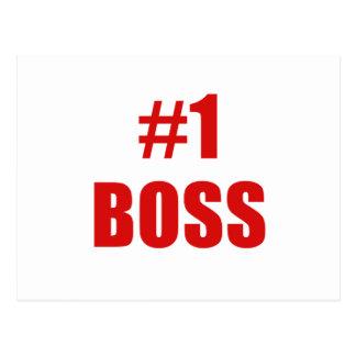 Número uno Boss Postales