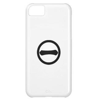 Número uno del kanji en círculo funda para iPhone 5C