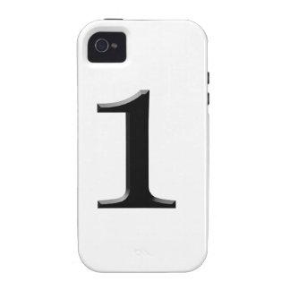 número uno vibe iPhone 4 carcasa