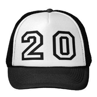 Número veinte gorras