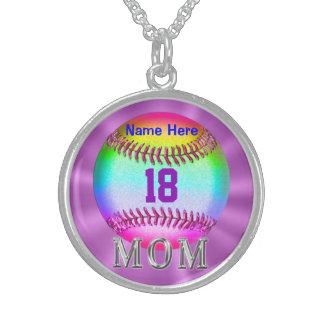 NÚMERO y NOMBRE del collar del béisbol de la plata