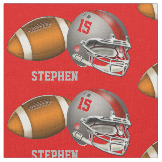 Número y nombre grises del casco del fútbol y del telas