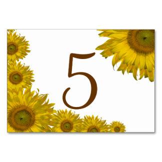 Números amarillos de la tabla del borde del giraso