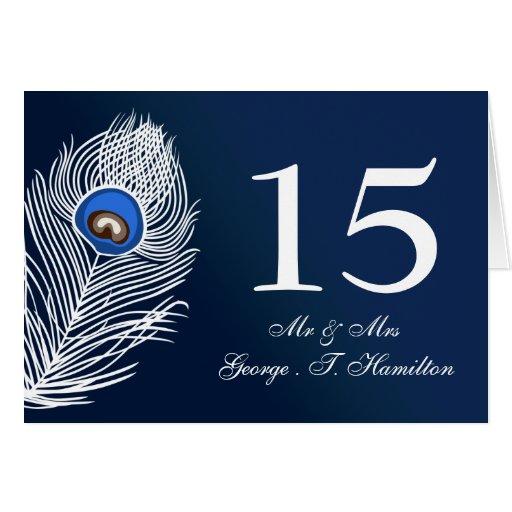 Números blancos y azules elegantes de la tabla del felicitación