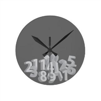 Números caidos reloj redondo mediano