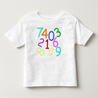 Números - camiseta de los niños playeras