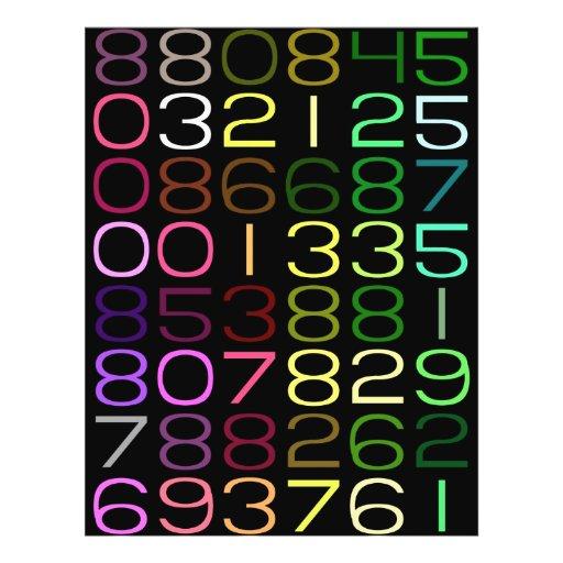 números coloridos flyer a todo color