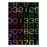 números coloridos tarjeta