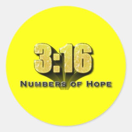 Números de 3:16 de la esperanza etiquetas