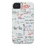 Números de fórmulas de la matemáticas iPhone 4 cárcasa