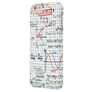 Números de fórmulas de la matemáticas funda de iPhone 6 plus barely there