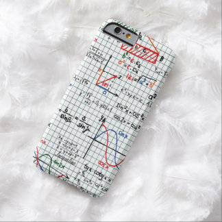 Números de fórmulas de la matemáticas funda de iPhone 6 barely there
