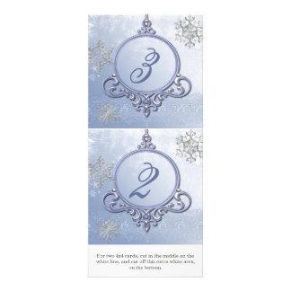 Números de la tabla de la recepción del ornamento comunicado personal