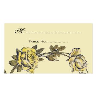 Números de la tabla del boda del vintage, plantilla de tarjeta de negocio
