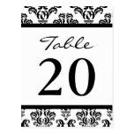 Números de la tabla del damasco (negro/blanco) postal