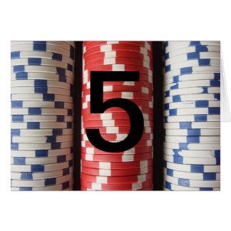 Números de la tabla del torneo del póker felicitacion