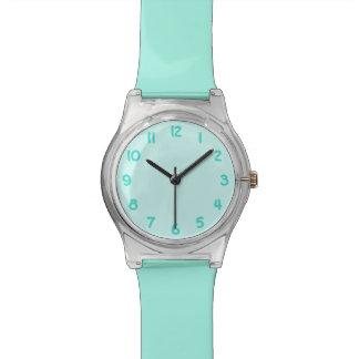 Números de la turquesa relojes de pulsera