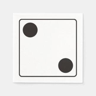 Números de los DADOS de las pipas 2 + su backgr. Servilletas De Papel