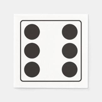 Números de los DADOS de las pipas 6 + su backgr. Servilleta Desechable