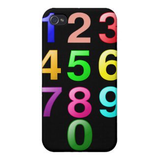 Números de los números enteros o de la cuenta a 9 iPhone 4/4S carcasas