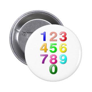 Números de los números enteros o de la cuenta a 9 pins