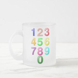 Números de los números enteros o de la cuenta a 9 taza