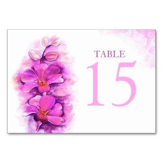 Números de tarjeta estilizados de la tabla del
