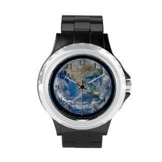 Números de Watch_With de la tierra Relojes De Mano