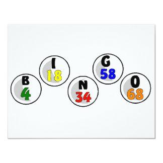 """Números del bingo invitación 4.25"""" x 5.5"""""""