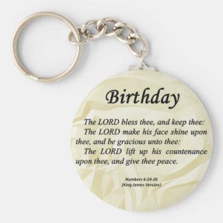 Números del cumpleaños 6-24 llavero