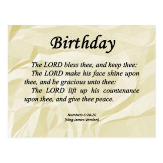 Números del cumpleaños 6-24 postal