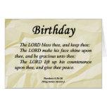 Números del cumpleaños 6-24 tarjetas